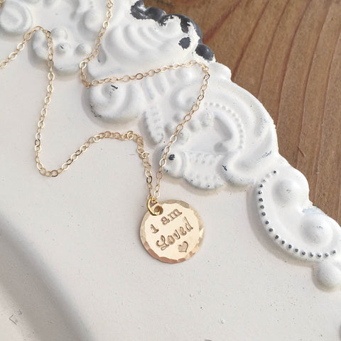 I Am Loved Gold Necklace