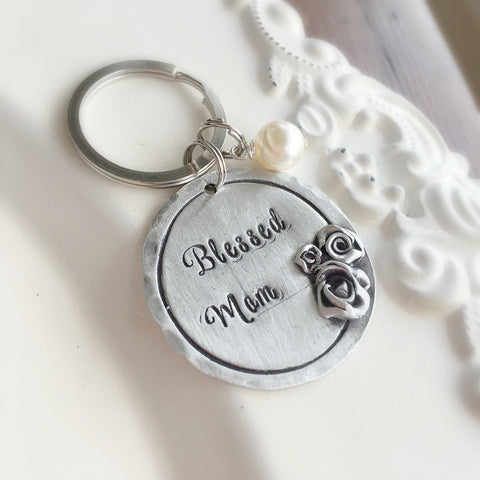 Personalized Rose Keychain