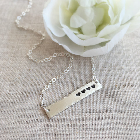 Heart Bar Necklace