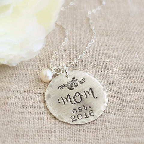 Established Year Mom Necklace