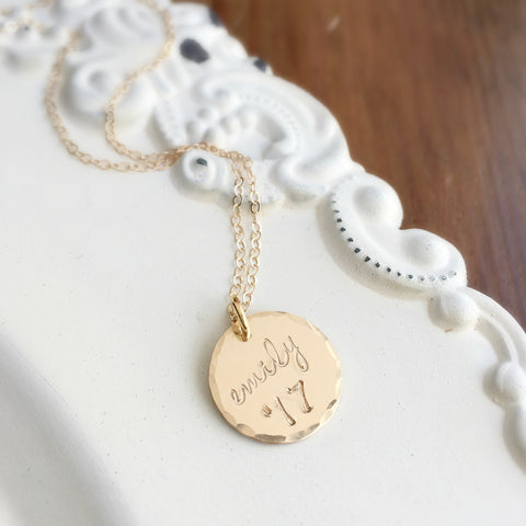 Gold Graduation Year Necklace