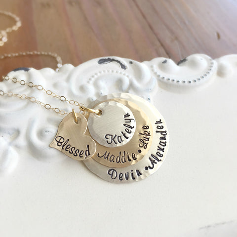Silver & Gold Mothers Necklace