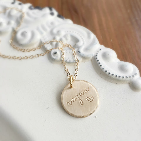 Gold Name & Heart Necklace