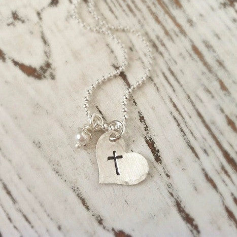 Mini Heart & Cross Necklace