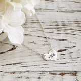 Lovers Initials Heart Necklace