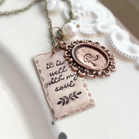 It Is Well Faith Necklace