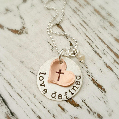 Love Defined Cross Necklace