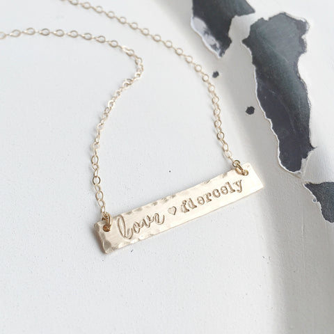 Love Fiercely Necklace