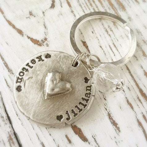 My Loves Heart Keychain