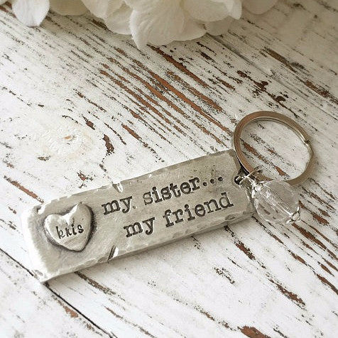 My Sister My Friend Keychain