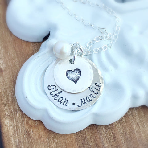 Name & Heart Layered Necklace