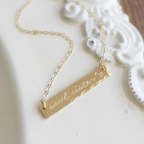 Soul Sister Gold Bar Necklace