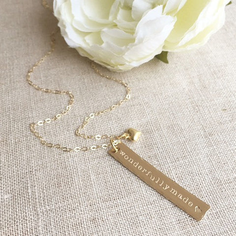 Wonderfully Made Rectangle Necklace