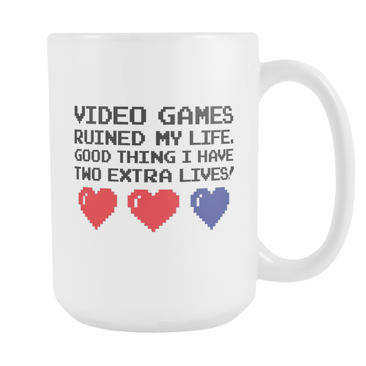 Video Games Ruined My Life Coffee Mug, 15 Ounce