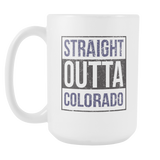 Straight Outta Colorado Baseball Coffee Mug, 15 Ounce