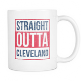 Straight Outta Cleveland Baseball Coffee Mug, 11 Ounce