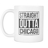 Straight Outta Chicago 2 Baseball Coffee Mug, 11 Ounce