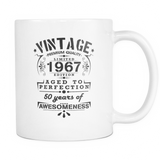 Vintage 1967, 50 Years Of Awesomeness Coffee Mug, 11 Ounce