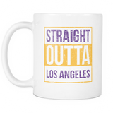 Straight Outta Los Angeles 2 Basketball Coffee Mug, 11 Ounce