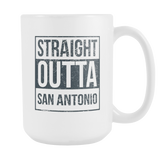 Straight Outta San Antonio Basketball Coffee Mug, 15 Ounce