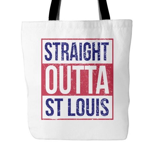 Straight Outta St Louis Baseball Tote Bag, 18