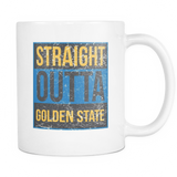 Straight Outta Golden State Basketball Coffee Mug, 11 Ounce