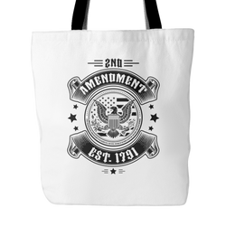 2nd Amendment Est. 1791 Tote Bag, 18 inches x 18 inches