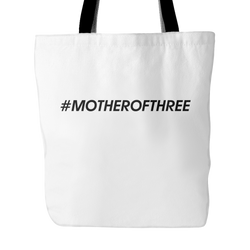 #MOTHEROFTHREE Tote Bag, 18 inches x 18 inches
