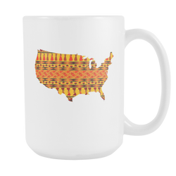 African American Pride Ankara Tribal Pattern 1 Coffee Mug, 15Oz