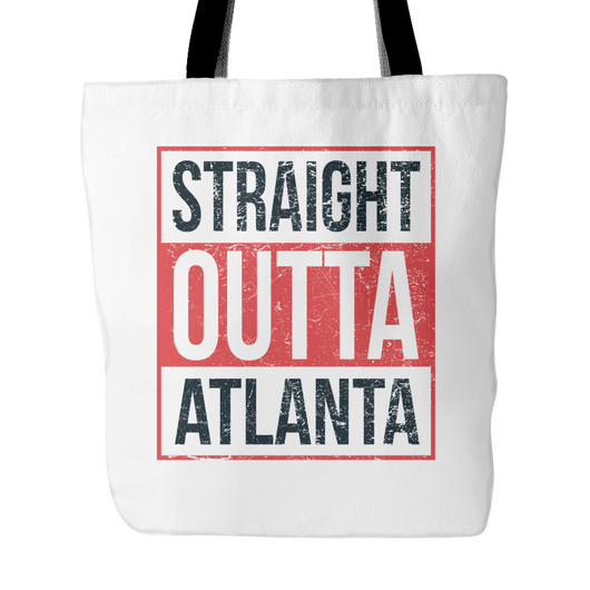 Straight Outta Atlanta Basketball Tote Bag, 18 inches x 18 inch