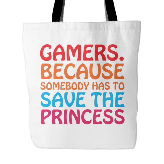 Gamers Save The Princess Tote Bag, 18