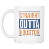 Straight Outta Houston Baseball Coffee Mug, 11 Ounce