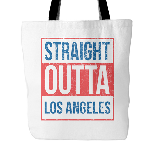 Straight Outta Los Angeles 2 Baseball Tote Bag, 18
