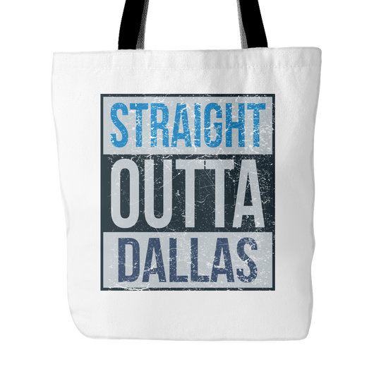 Straight Outta Dallas Basketball Tote Bag, 18 inches x 18 inch