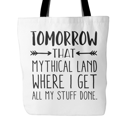 Tomorrow That Mythical Land Tote Bag, 18