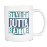 Straight Outta Seattle Baseball Coffee Mug, 11 Ounce