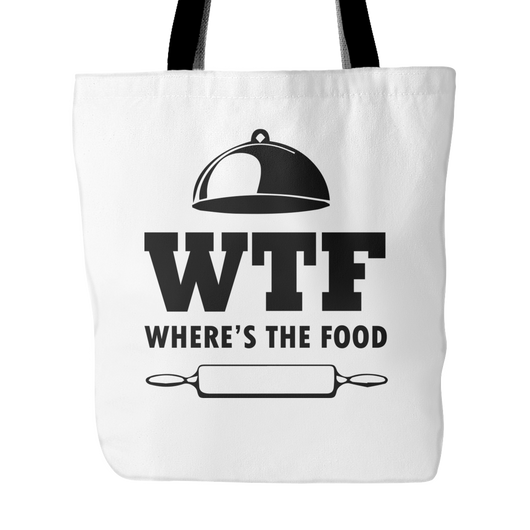 WTF Where's The Food Tote Bag, 18
