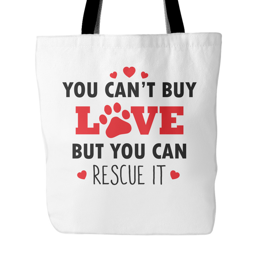 You Can't Buy Love Tote Bag, 18 inches x 18 inches