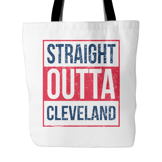 Straight Outta Cleveland Baseball Tote Bag, 18