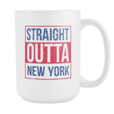 Straight Outta New York 2 Baseball Coffee Mug, 15 Ounce