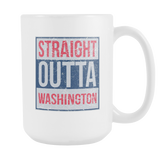 Straight Outta Washington Basketball Coffee Mug, 15 Ounce
