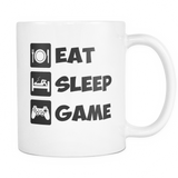 Eat Sleep Game Coffee Mug, 11 Ounce