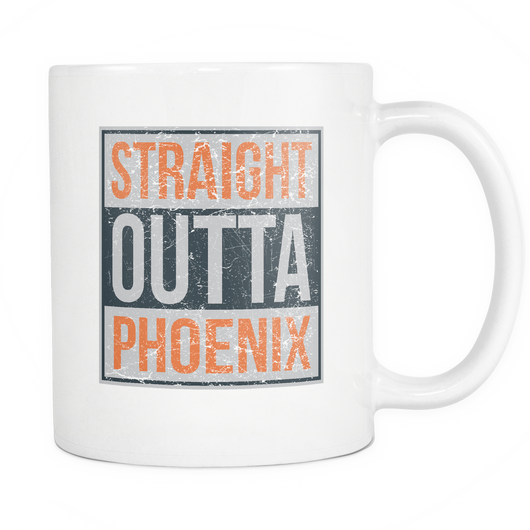 Straight Outta Phoenix Basketball Coffee Mug, 11 Ounce