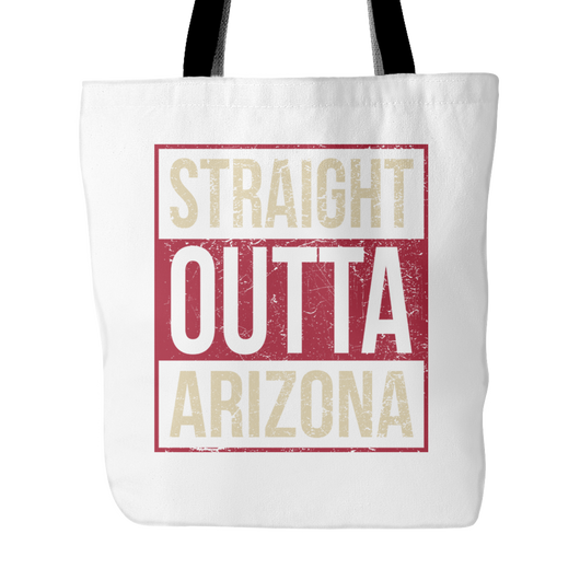 Straight Outta Arizona Baseball Tote Bag, 18