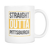 Straight Outta Pittsburgh Baseball Coffee Mug, 11 Ounce