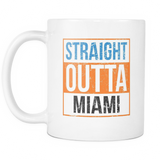Straight Outta Miami Baseball Coffee Mug, 11 Ounce