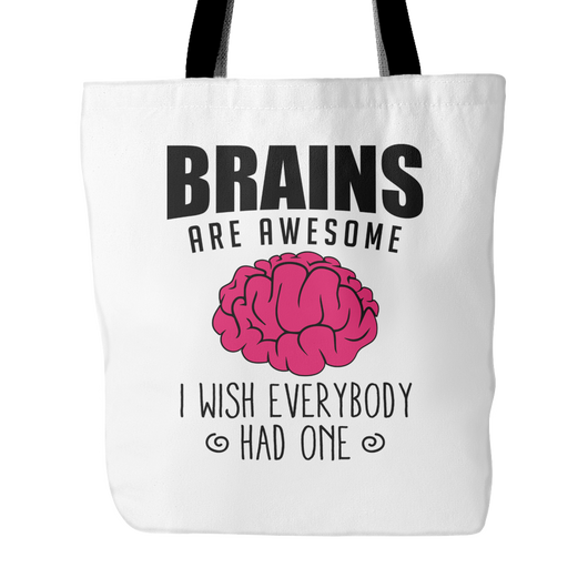 Brains Are Awesome Tote Bag, 18