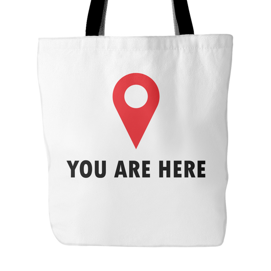 You Are Here Tote Bag, 18