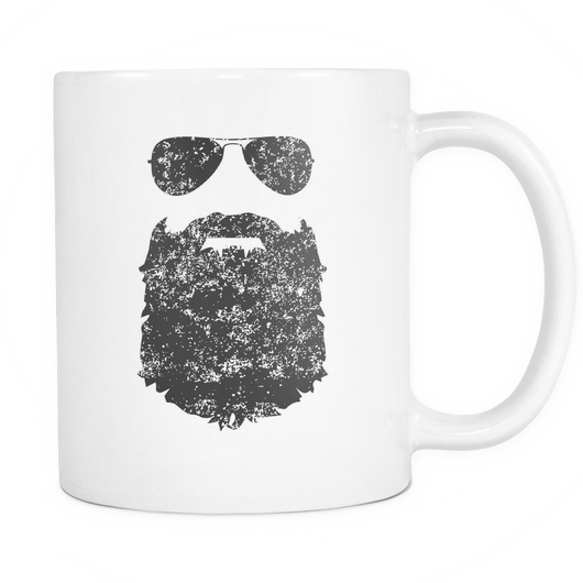 Beard And Sunglasses Coffee Mug, 11 Ounce