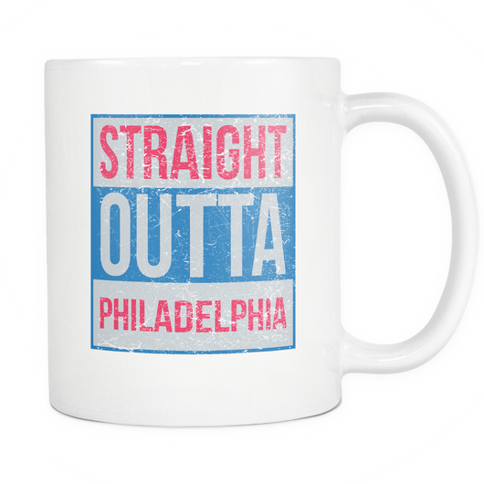 Straight Outta Philadelphia Basketball Coffee Mug, 11 Ounce